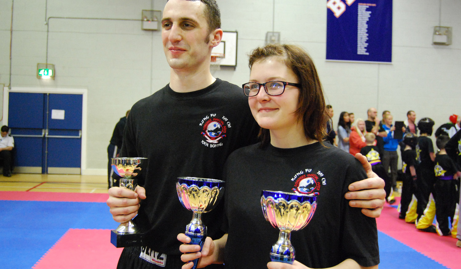 Kickboxing competition winners